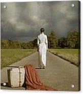 Lady On The Road Acrylic Print by Joana Kruse