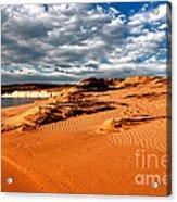 Lake Powell Morning Clouds Acrylic Print by Thomas R Fletcher