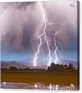 Lightning Striking Longs Peak Foothills 6 Acrylic Print by James BO  Insogna