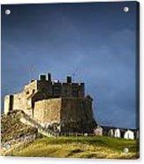 Lindisfarne Castle On A Volcanic Mound Acrylic Print by John Short