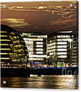 London City Hall At Night Acrylic Print by Elena Elisseeva