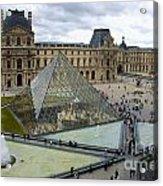Louvre Museum. Paris Acrylic Print by Bernard Jaubert