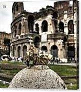 love locks in Rome Acrylic Print by Joana Kruse