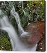 Lower Buttermilk Falls Acrylic Print by Stephen  Vecchiotti