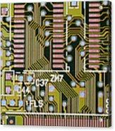 Macrophotograph Of A Circuit Board Acrylic Print by Dr Jeremy Burgess