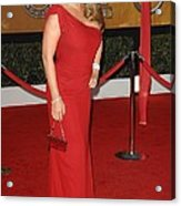 Mariah Carey Wearing A Valentino Gown Acrylic Print by Everett