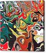Melting Wax Acrylic Print by Katina Cote