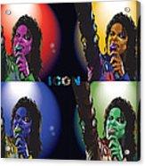Michael Jackson Icon4 Acrylic Print by Mike  Haslam