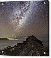Milky Way Over Cape Schanck, Australia Acrylic Print by Alex Cherney, Terrastro.com