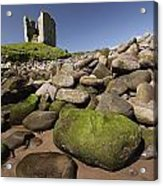 Minard Castle And Rocky Beach Minard Acrylic Print by Trish Punch