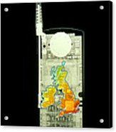 Mobile Phone X-ray Acrylic Print by D. Roberts