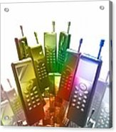 Mobile Phones Acrylic Print by Victor Habbick Visions