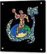 Mosaic Ballin Acrylic Print by Steve Weber