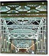 Nashville By Night Bridge 2 Acrylic Print by Douglas Barnett