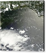 Oil Slick In The Gulf Of Mexico Acrylic Print by Stocktrek Images
