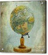 Old Globe Acrylic Print by Bernard Jaubert