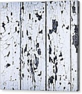 Old Painted Wood Abstract Acrylic Print by Elena Elisseeva