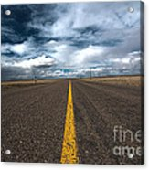 Open Highway Acrylic Print by Arjuna Kodisinghe