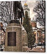 Paul Revere-statue Acrylic Print by Joann Vitali
