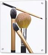 Powder And Make-up Brushes Acrylic Print by Bernard Jaubert