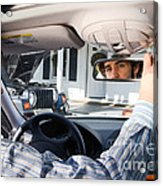 Rear-view Mirror Acrylic Print by Photo Researchers