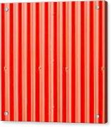 Red Corrugated Metal Acrylic Print by Tom Gowanlock