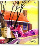 Red House Acrylic Print by Anil Nene