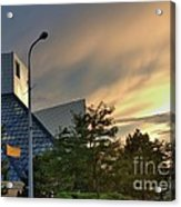 Rock And Roll Hall Of Fame Acrylic Print by David Bearden