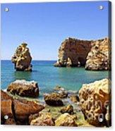 Rocky Coast Acrylic Print by Carlos Caetano