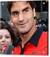 Roger Federer At A Public Appearance Acrylic Print by Everett