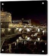 Rome Ponte San Angelo Acrylic Print by Joana Kruse