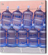 Rows Of Water Jugs Acrylic Print by Jeremy Woodhouse