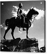 Royal Scots Greys Boer War Monument In Princes Street Gardens Edinburgh Scotland Uk United Kingdom Acrylic Print by Joe Fox
