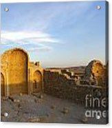 Ruins Of Shivta Byzantine Church Acrylic Print by Nir Ben-Yosef