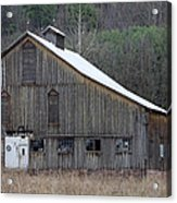 Rustic Weathered Mountainside Cupola Barn Acrylic Print by John Stephens