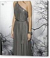 Sandra Bullock Wearing A Lanvin Dress Acrylic Print by Everett