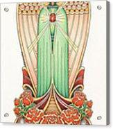 Scroll Angel - Roselind Acrylic Print by Amy S Turner