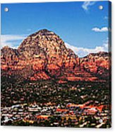 Sedona Red Rock Acrylic Print by Lisa  Spencer