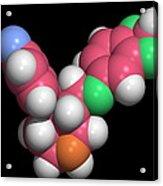 Seroxat (paroxetine) Molecule Acrylic Print by Dr Tim Evans