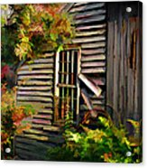 Shed Acrylic Print by Suni Roveto