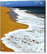 Shoreline Along Pinones Acrylic Print by Thomas R Fletcher