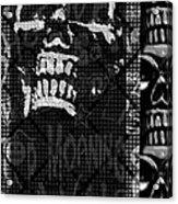 Skull Montage Acrylic Print by Roseanne Jones