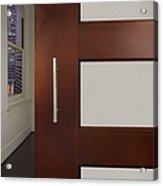 Sliding Door In Upscale Home Acrylic Print by Robert Pisano