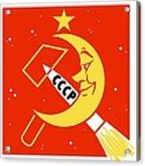 Soviet Moon Exploration, Artwork Acrylic Print by Detlev Van Ravenswaay