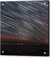 Star Trails Acrylic Print by Laurent Laveder