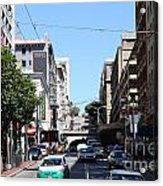 Stockton Street Tunnel In San Francisco Acrylic Print by Wingsdomain Art and Photography