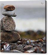 Stones At The Sea Acrylic Print by Falko Follert