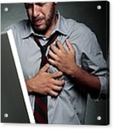Stress-related Heart Attack Acrylic Print by Mauro Fermariello