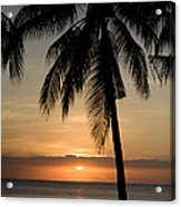 Sunrise At Bali Island Acrylic Print by Tim Laman