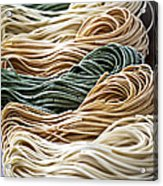Tagliolini Pasta Acrylic Print by Elena Elisseeva